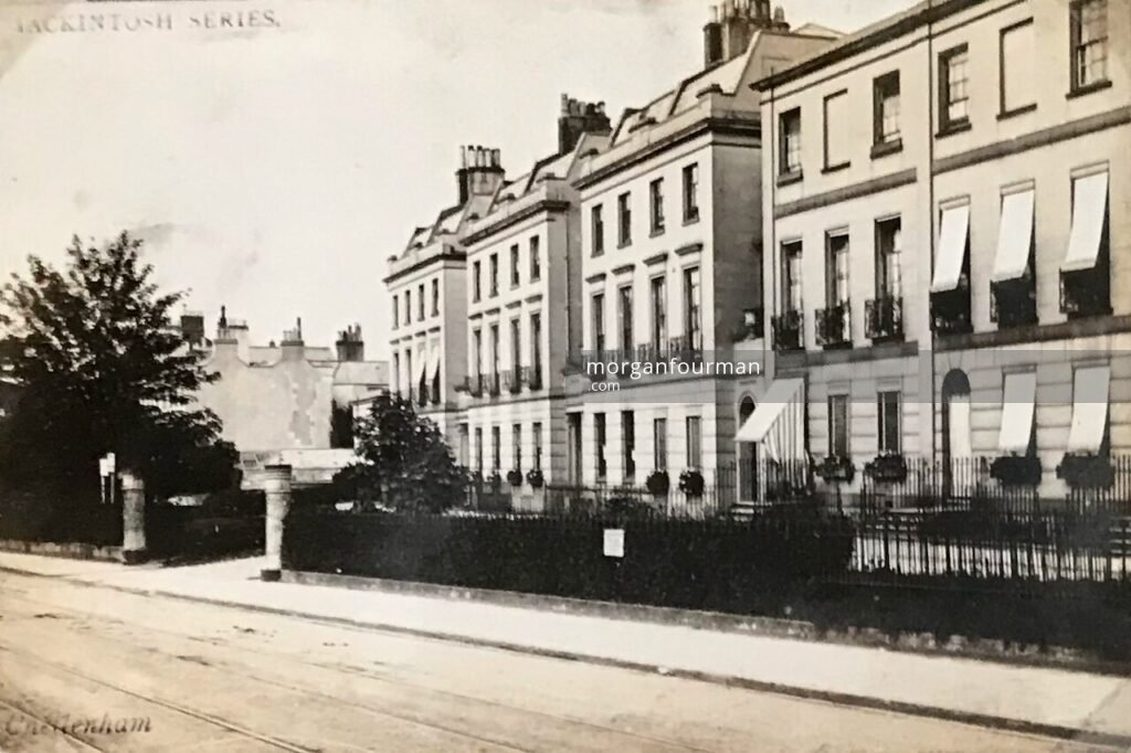 Paragon Buildings, Bath Street, Cheltenham. Mackintosh Series postcard, c. 1900