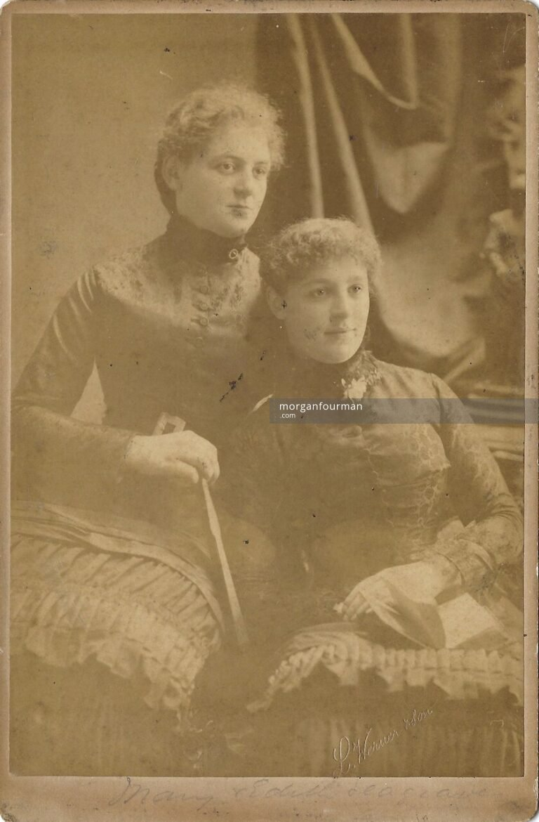Mary and Edith Segrave, c. 1880. Photo by L. Werner & son, 15 Leinster Street, Dublin