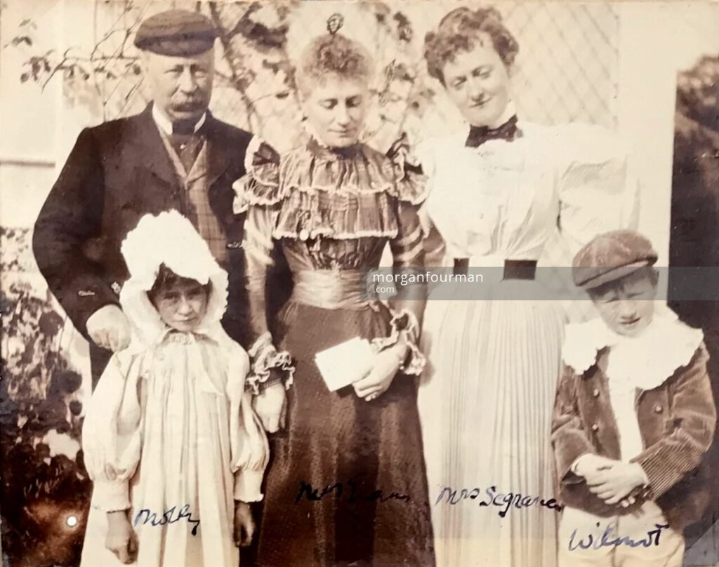 Mrs Segrave with Henry Evans family, The Lawn, Hagley, c. 1897