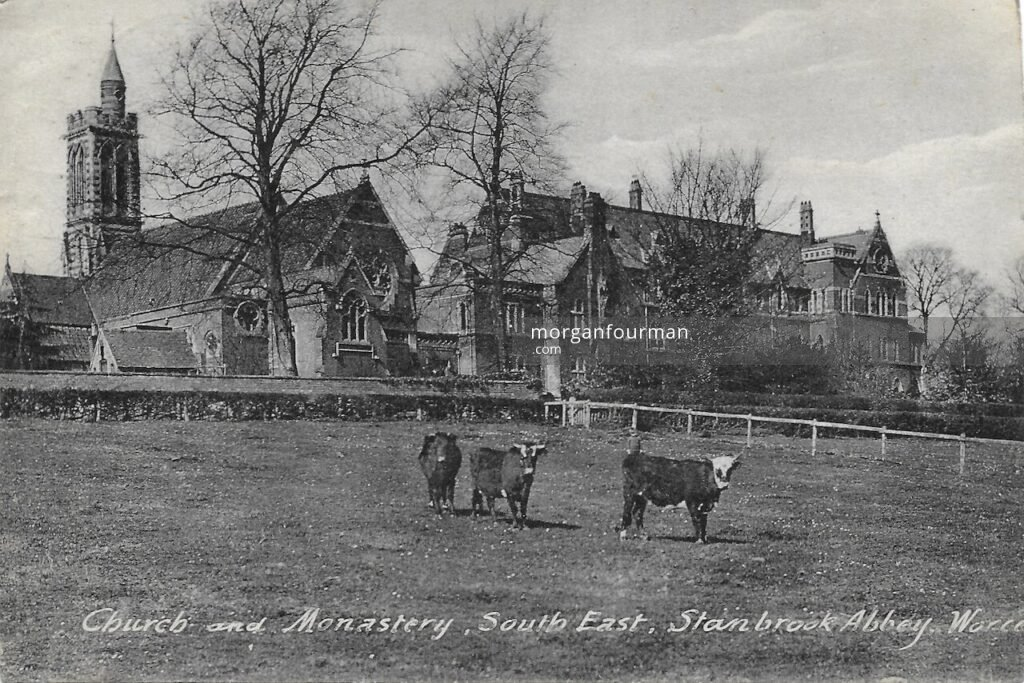 Church and Monastery, South East, Stanbrook Abbey, Worcester. Aileen Moriarty to Molly Evans postcard, 8 Jul 1923
