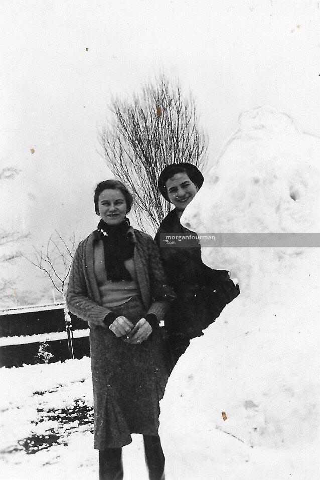 Pam and Hélène Cordier at 47 Selwyn Rd, Edgbaston, 1936