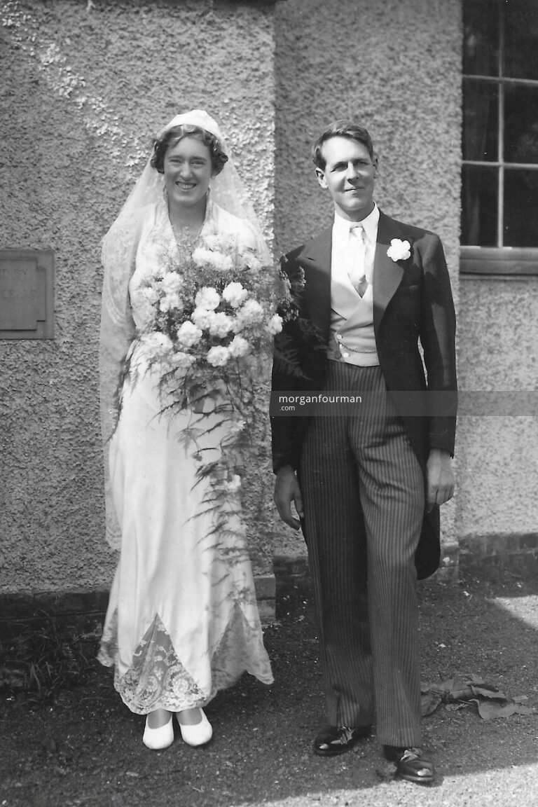 Wedding of Joyce Foulds and Archie Evans, Great Alne, 20 Aug 1938