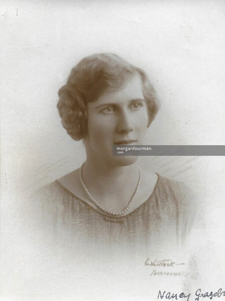 Nancy Grazebrook, c. 1925. Photo by Whitlock, Birmingham