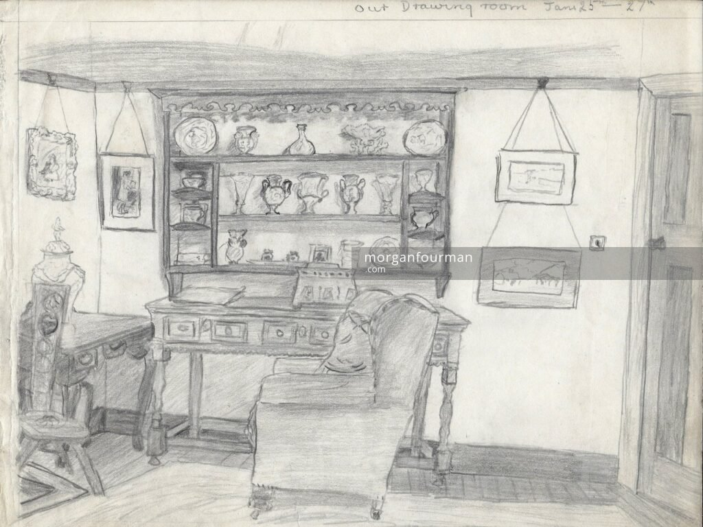 Drawing Room by Pamela Downing, c. 1935