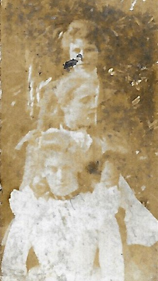 Eleanor Welch (2nd) with Mary and May Downing, late 1890s