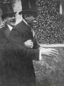 W. Showell & Mr D'Aubigné at May Downing's wedding, 4 Jun 1906