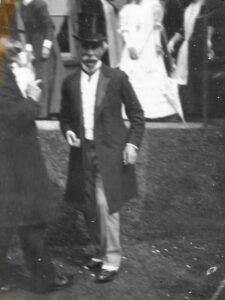 Mr D'Aubigné at May Downing's wedding, 4 Jun 1906
